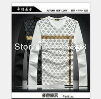 Free transportation Men T shirt  Long Sleeve T-shirt High Quality Casual T-shirt For Men Printed 100% Cotton T Shirt