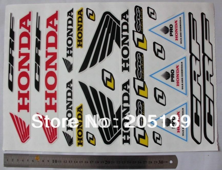 1pc 3m graphics decals sticker FOR honda ATV dirt pit bike XR CRF50 Z50 CRF70 crf110 crf150 CRF250 ktm50 ttr50(China (Mainland))
