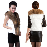 Free shipping Women Winter Warm Faux fox Fur Vest Jacket Coat Gilet Fashion Waistcoat Hot