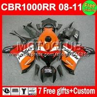 7gifts For HONDA 08 09 10 11 CBR1000RR Repsol CBR 1000 1000RR MC8136 NEW 2008 2009 2010 Orange red black 2011 CBR1000 RR Fairing
