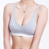 Fashion Bamboo 100% Cotton Women bust Push Up Yoga Sports Bra Tank Underwear Bra 70 75 80 85 Size (32 34 36 38) 4 Color