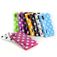 Polka Dots TPU Gel Rubber Back Case Cover Skin For LG Optimus L5 E610 E615 E612 Free Drop Shipping