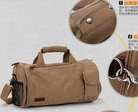 Canvas bag 2014 12L male barrel-shaped messenger bag man bag shoulder bag handbag women's handbag