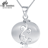 Light x 925 silver - eye pendant female necklace