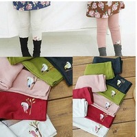 New Bird girls leggings / child wild cotton leggings multi-color 1-7y