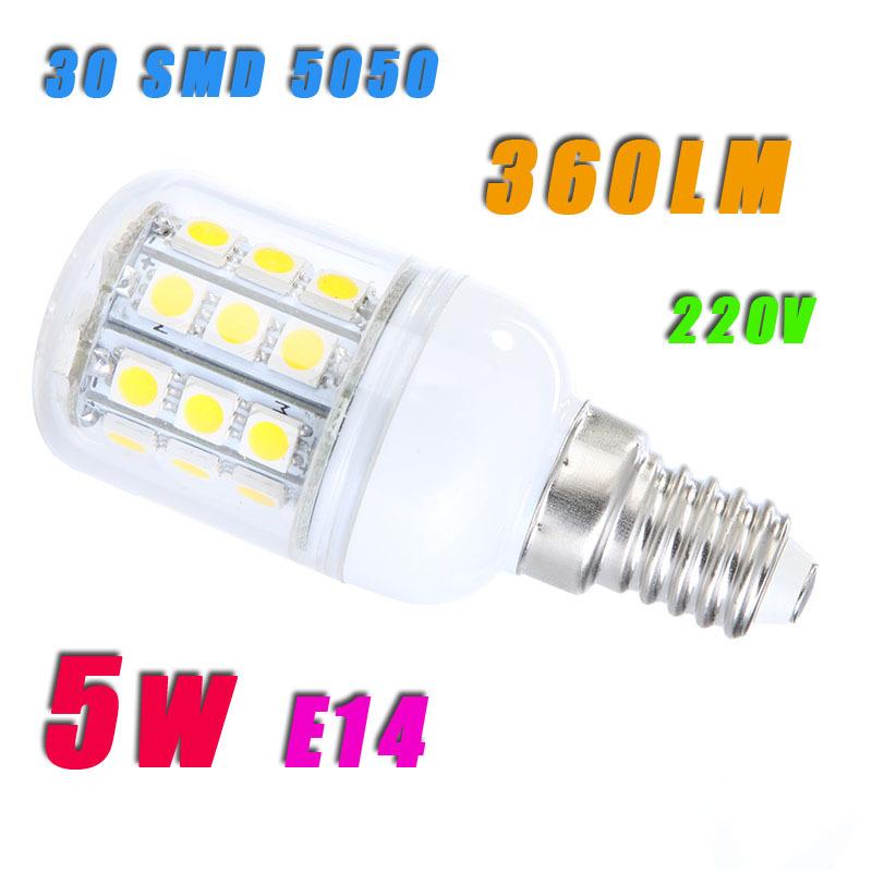 Светодиодная лампа Oem lampada E14 5W 30 SMD5050 220V