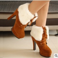 women pumps plush new winter women's boots shoes woman ultra high heels sexy boots Martin boots Europe and America shoes