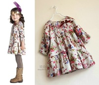 Retail&Whole sale 2014 Newest flower girl dress Long Sleeve Monsoon infant dress brand Freeshipping for spring,winter ,autummn