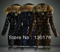 2014 New Time-limited Shipping! Brand Fashion Parkas Coat Hood Parka Winter Down Women Nantes Long Sale Jackets with Yrf3106