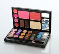 Blush blusher cosmetic make-up box powder eyebrow blush lip gloss 21 eye shadow set box