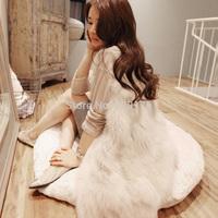 2014 long o-neck solid cardigans winter warm new korean fashion luxury quality overcoats women's coats jacket outerwear wt1233