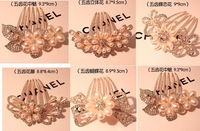 Rhinestone & Pearl  Accessories Hair Accessory Bow Bride Hairwear  Elegant Fat Plug Hair Pin  Hair Maker Comb