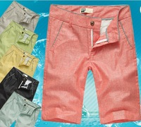 New 2014 fashion casual shorts, designer linen large size multi-color thin breathable cool summer shorts, beach pants