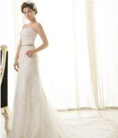 New Sexy White/Ivory Lace Mermaid Wedding Dress Custom Size 2-4-6-8-10-12-14-16+