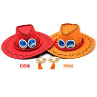 free shipping 10pcs/lot,One Piece 16cm hot sale Anime One Piece Portgas D Ace Hat sun Cap Cosplay hat 2 color retail EW-H-AP-002