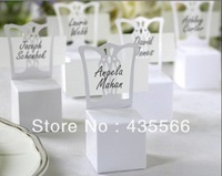 2014 New Arrival Wedding Miniature Chair Place Card Holder and Favor Box