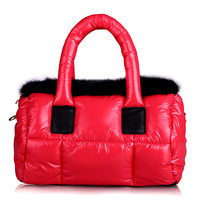 Space bag rabbit fur women's handbag one shoulder cross-body bag down fashion bag