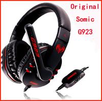 Free shipping High Quality Somic G923 Stereo Gaming Headset Headphone Powerful Bass Earphone with Microphone 40mm Hi-Fi Speaker