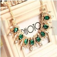 Free Shipping ! wholesales Fashion Western statement elegant Punk Rinestones choker necklace jewelry 2014