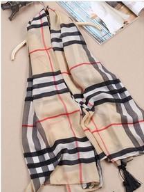 Foreign trade of the original single-burst models Palestinian family classic British style plaid chiffon scarf shawl(China (Mainland))