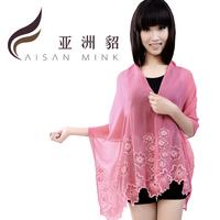 New arrival sun cape female silk scarf women's mulberry silk long design female silk scarf