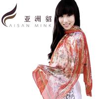 Summer new arrival mulberry silk women's scarf fashion design sun female long silk scarf silk shawl female