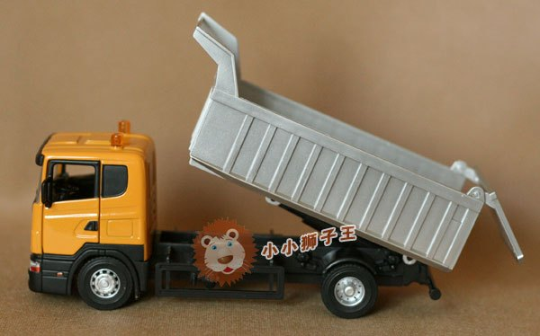 Alloy car model toy scania dump truck transport truck - box(China (Mainland))