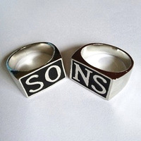 Free Shipping European And American Fashion Jewelry Surrounding The Movie Personality Sons of Anarchy Men's Rings Pairs