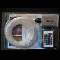 6W RGB led optic fiber light engine Source Illuminator Generator with IR Remote+ 16 colors+300pcs 0.75mm 2meters fiber