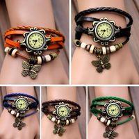 New Fashion Butterfly Bracelet Wrap Watch Quartz Movement Wrist Watch Girl Women Wristwatch Watch