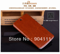Original MOFI Side Open Flip PU Leather Case For LG Nexus 5 With Retail Package, Free Shipping