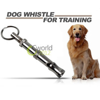 Free Shipping Puppy Dog Pet Training Adjustable Ultrasonic Sound Key Chain Dog Whistle Keyring