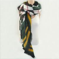 Free Shipping New Fashion Women Elegant Vintage Plaid Scarf Wraps Brand Designer Classic Scarves Pashmina Muffler Wrap For Woman