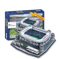 Free Shipping 2014 New 3D puzzle Spain Santiago Bernabeu Stadium Stadium fans DIY paper model educational toys for children