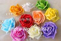 New 2014 20pcs/Lot Rose Artificial Pvc Silk Flower Heads Wholesale Lots Wedding Party Home Decor