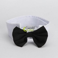 Free Shipping White Black Dog Cat Bow Tie Collar Cute Puppy Necktie Accessory Wedding Adjustable Bowtie