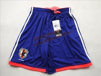 New! 2014 world cup thailand best Quality Japan home soccer shorts blue Short,Free By HK or SG or SW post.