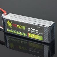 Hot New 10 pcs Lion Power 3s 11.1V 2200MAH 30C Lipo battery Li poly For RC Car helicopter 6 channel align trex Akku Deans plug