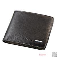 New Men Brands Wallets Mens PU Leather Wallet Credit Card Holder Short Carteira Id Card Clip 140085