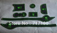 Skoda Fabia car mats door gate slot pad non-slip pad anti-skid pads auto accessories car mats 7pcs/set green