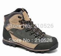 New brand 2014 Winter men's outdoor hiking shoes walking skid resistance waterproof breathable top split cowhide boot shoe