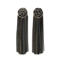 2014 Vintage Indian Jewelry Alloy Metal Tassel Drop Earrings Flowers Earrings Bijoux Free Shipping