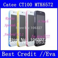 """Original Catee CT100 MTK6572 dual core Android 4.2 mobile Phone 4.5"""" capacitive screen 3G WCDMA GSM  Russian menu/EVa"""
