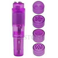 M65 1Pc Purple Supre Mini Full Body Massager Relieve Stress Travel Pocket Rocket