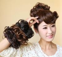 4 colors, Hair Bun Hair Bun Ring Donut Roller Hairpieces Chignon high temperature Synthetic fiber, 1pcs