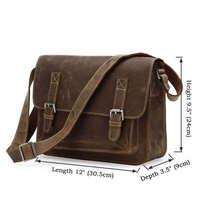 Classic style Crazy Horse Leather Men's Messenger Bag Across Body Bag 5Pcs/Lot 7089B-1