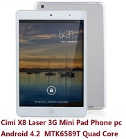 "32GB ROM tablet Phone Cimi X8 Laser Mini Pad 3G Phone 7"" MTK6589T Quad Core 1.5GHz IPS Android 4.2 Dual Camera WiFi GPS"