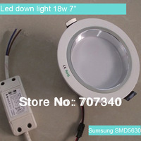 "18w 7"" recessed light, led downlight, led down lamp with Samsung SMD5630 85-265VAC"