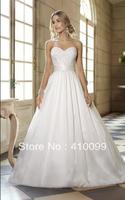 Hot New Free shipping White/Ivory Detachable shoulder strap Custom made Weding Dress 2014