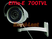 700TVL Effio-e 4140+811 960H waterproof Night Vision 36 IR Blue LED surveillance Bullet CCTV security  camera with bracket